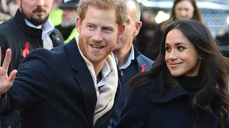 Prince Harry and Meghan visited Nottingham together. Picture: AFP