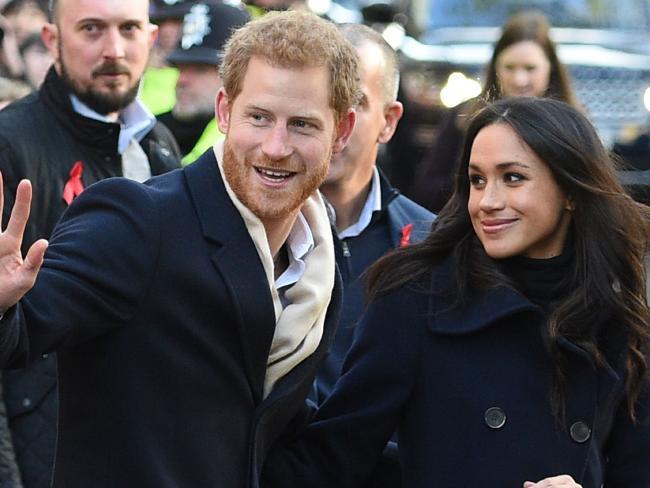 Prince Harry and Meghan visited Nottingham together. Picture: AFP