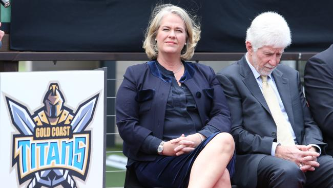 Rebecca Frizelle and Darryl Kelly will ensure the Titans brand lives on. Picture: Luke Marsden.