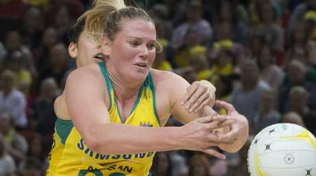 Caitlin Thwaites in action during the netball Constellation Cup.