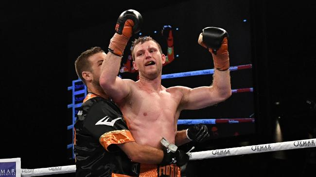 Jeff Horn defeated Gary Corcoran.