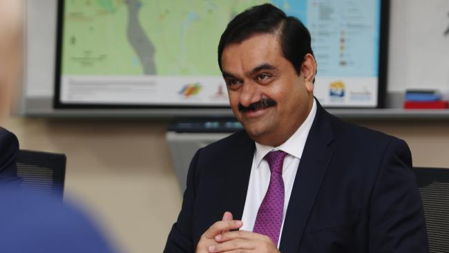 Gautam Adani during a meeting with Premier Annastacia Palaszczuk at the Port of Townsville. Pics Tara Croser.