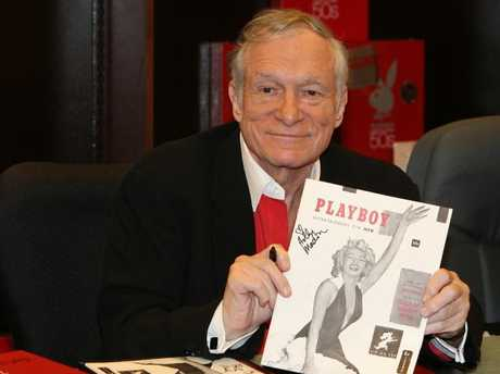 Hugh Hefner 's death shocked the internet. Picture: Supplied