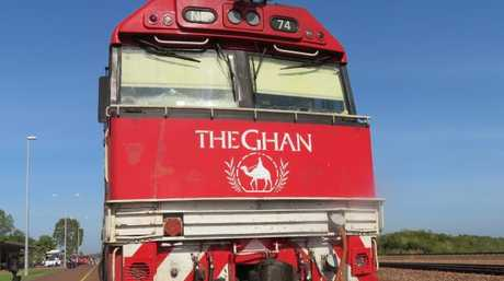 The Ghan train will be the subject of a slow TV special by SBS. Picture: AAP