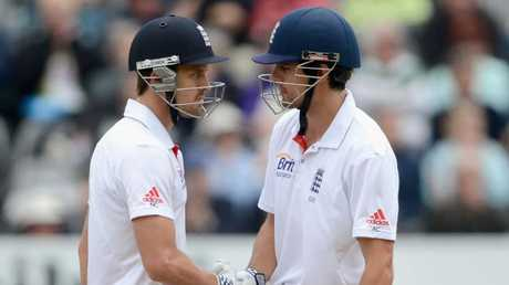 Discarded England opener Nick Compton (L) says the most brutal sledge he's experienced came from an Australian.