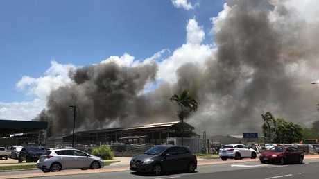 An Industrial explosion at Sims Metal in Cairns. PHOTO: Maddy Geraldine