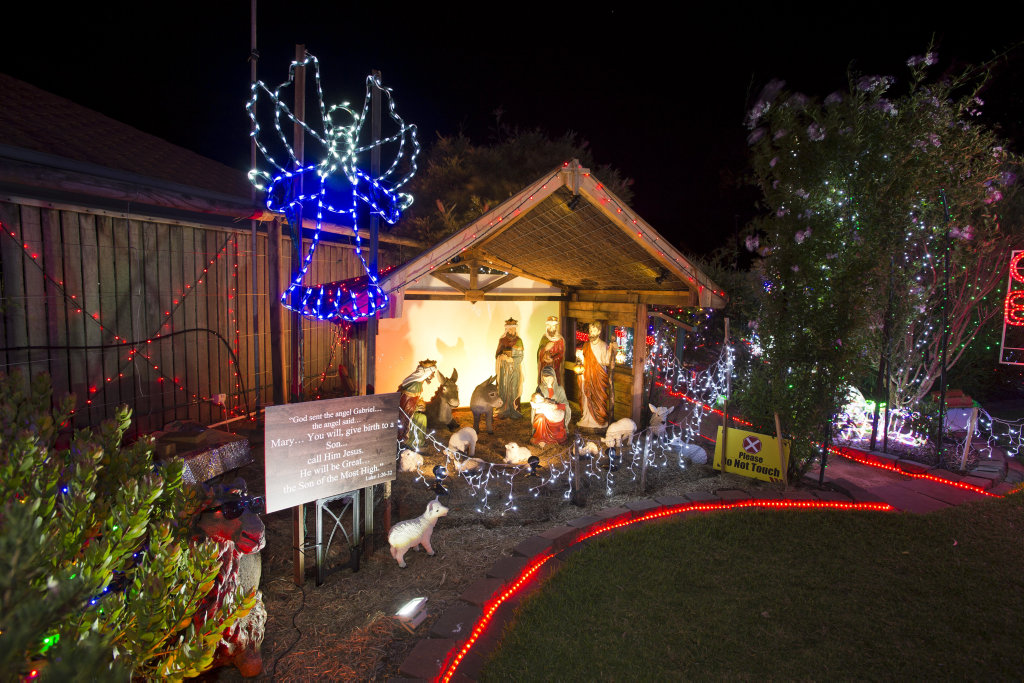image for sale the chronicle christmas lights competition entry of john gamble in grant close