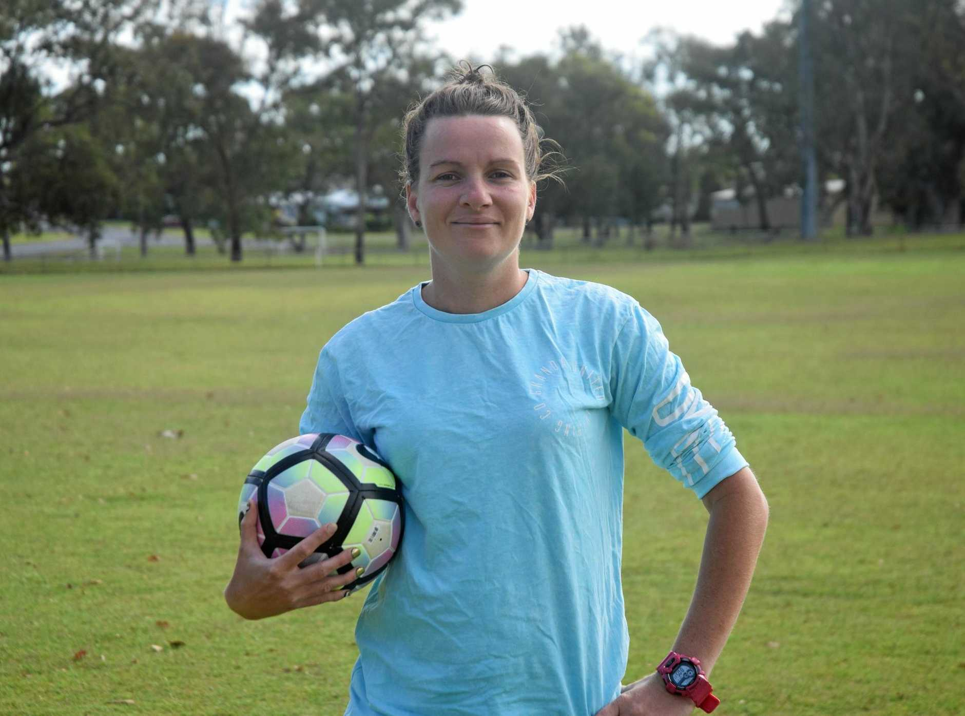 LOCAL CHAMPION: Soccer player Justeen Kruger will play for South West Queensland Thunder in Toowoomba next season.