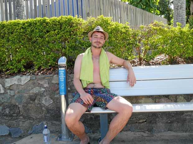 RELAXING HOLIDAY: English traveller Ellis Vaughan.