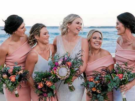 Alana and her bridesmaids.