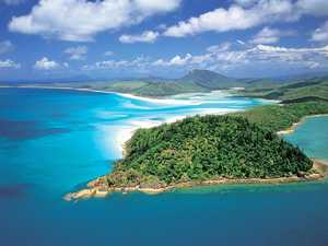 BRIGHT FUTURE: Aerial of Hill Inlet & Whitehaven Beach