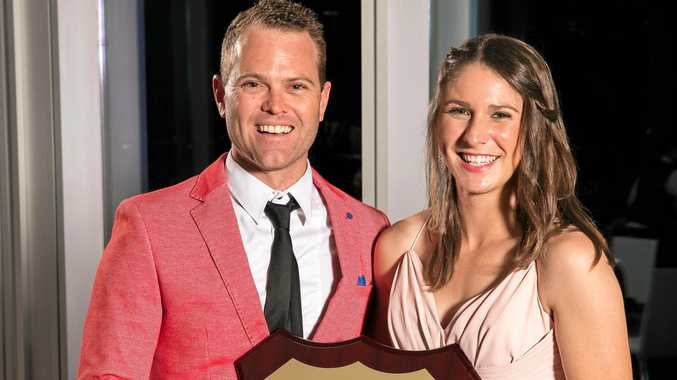 WINNERS: Mark Webb and Emma Thompson from Tyrepower Maclean collected the gong for Tyrepower Queensland Dealer of the Year for 2017.