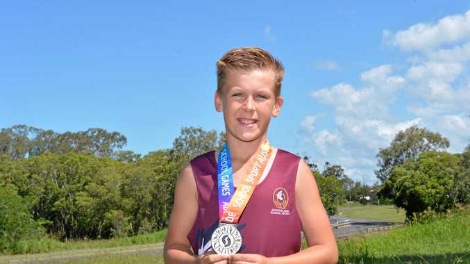 TOP SHOT: Bundaberg's Jonty Murdoch won a silver medal at the Pacific Games in discus in Adelaide before winning gold for Queensland in the team shot put.