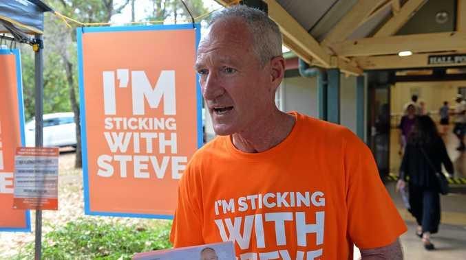 Queensland One Nation Leader Steve Dickson at Buderim polling booths.