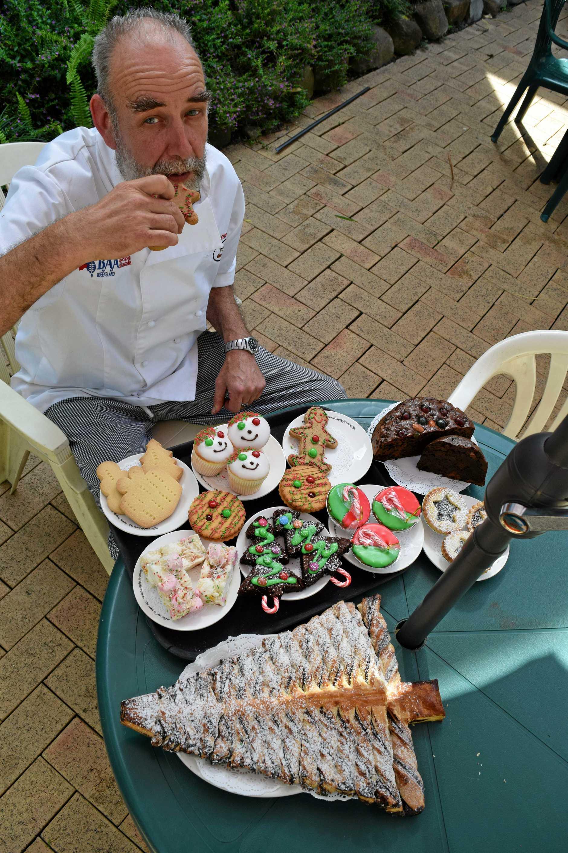 Old Fernvale Bakery baker Matt Brown is an expert at whipping up Christmas treats.