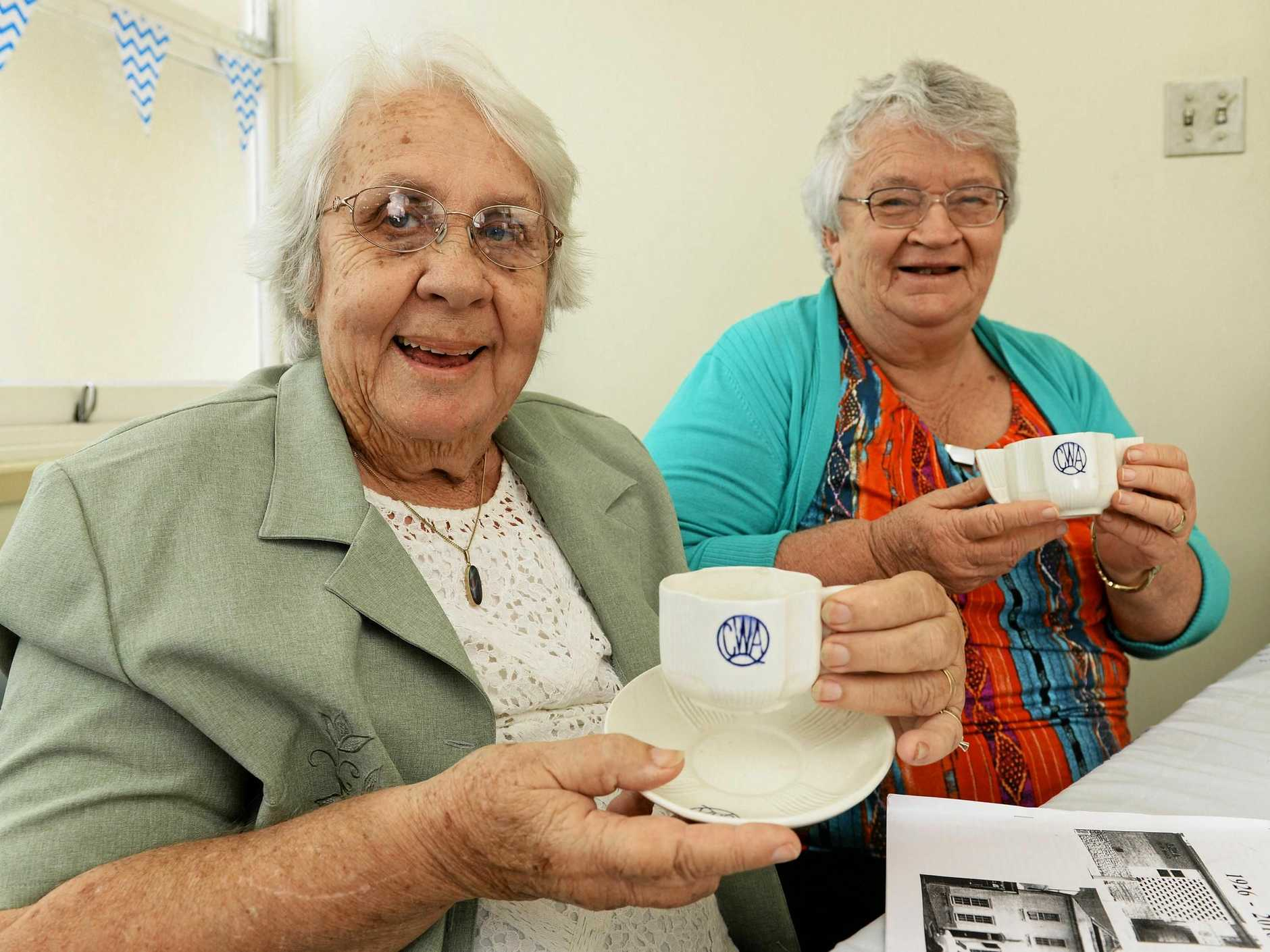Val Shelton and Lois Spresser at the CWA Ipswich 90th anniversary on Thursday.