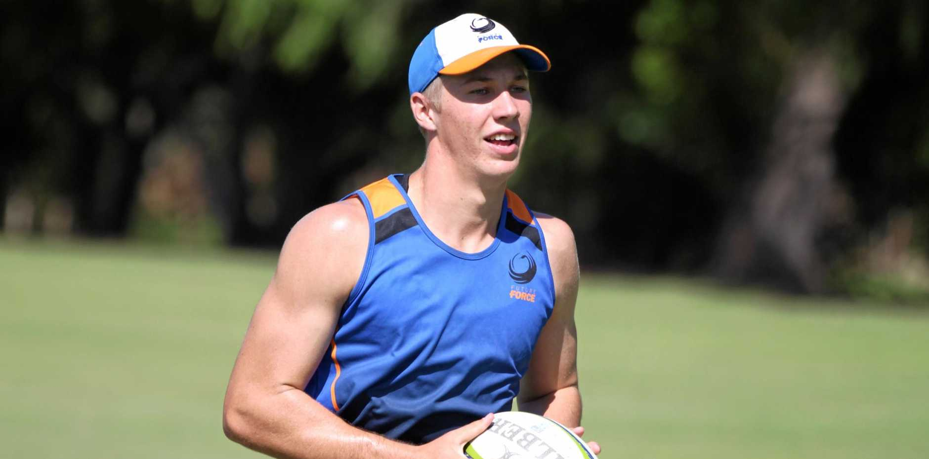 Warwick forward Will Dearden trains with the Western Force colts.