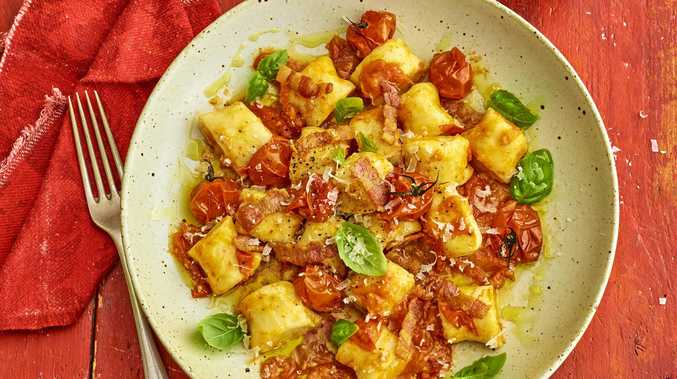 The Gnocchi Horror Picture Show: ricotta gnocchi with bacon and tomato sauce.