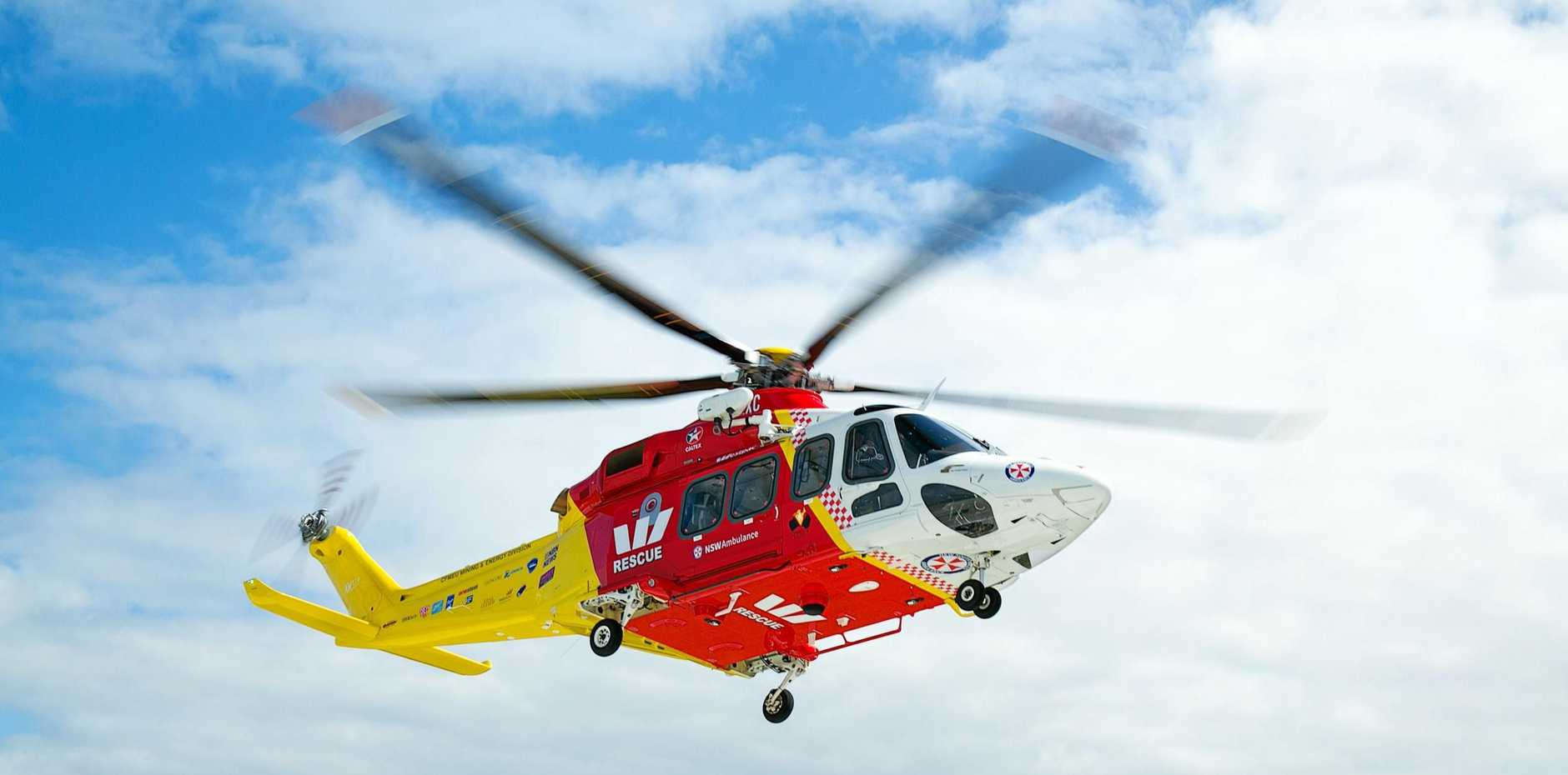The Westpac Rescue Life Saver Helicopter is this morning responding to a single vehicle crash.