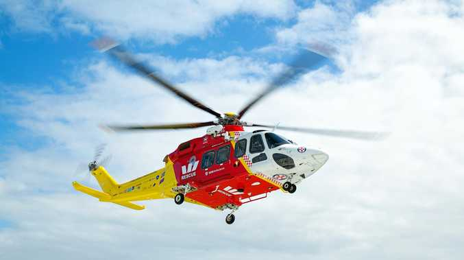 Man flown to hospital with head, back and pelvic pain