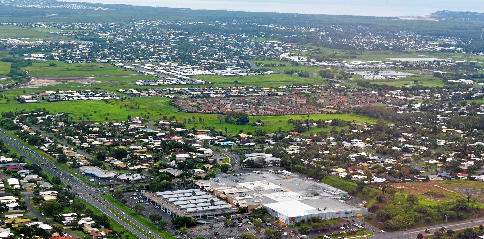 An aerial view of Mackay.