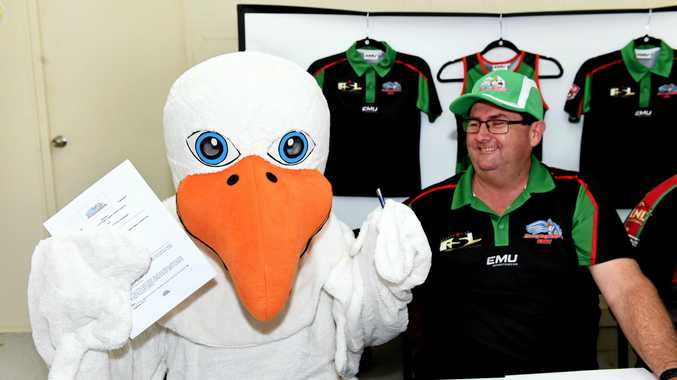 COUP: Hervey Bay's first signing for 2018, Jimmy the Seagull.