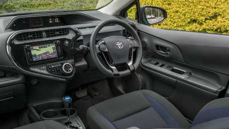 The interior is functional and well laid out, just don't go looking for Apple Car Play or Android Auto. Picture: Supplied.