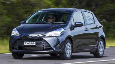 The Toyota Yaris auto at its current price of $17,490 drive-away is more than $10,000 cheaper than the Prius C. The extra cost of the Prius C would take 18 years to recoup in fuel savings. Picture: Supplied.