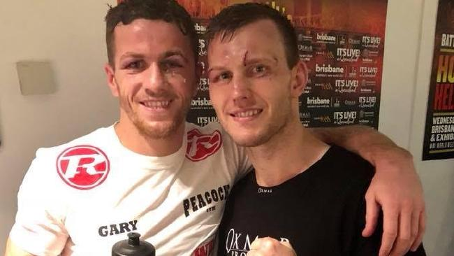 Jeff Horn and Gary Corcoran together after the fight.