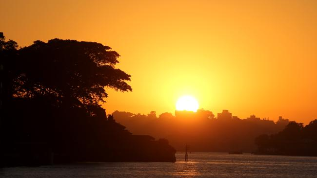 Sydney is set to bake in temperatures above 40C today. Picture: John Grainger