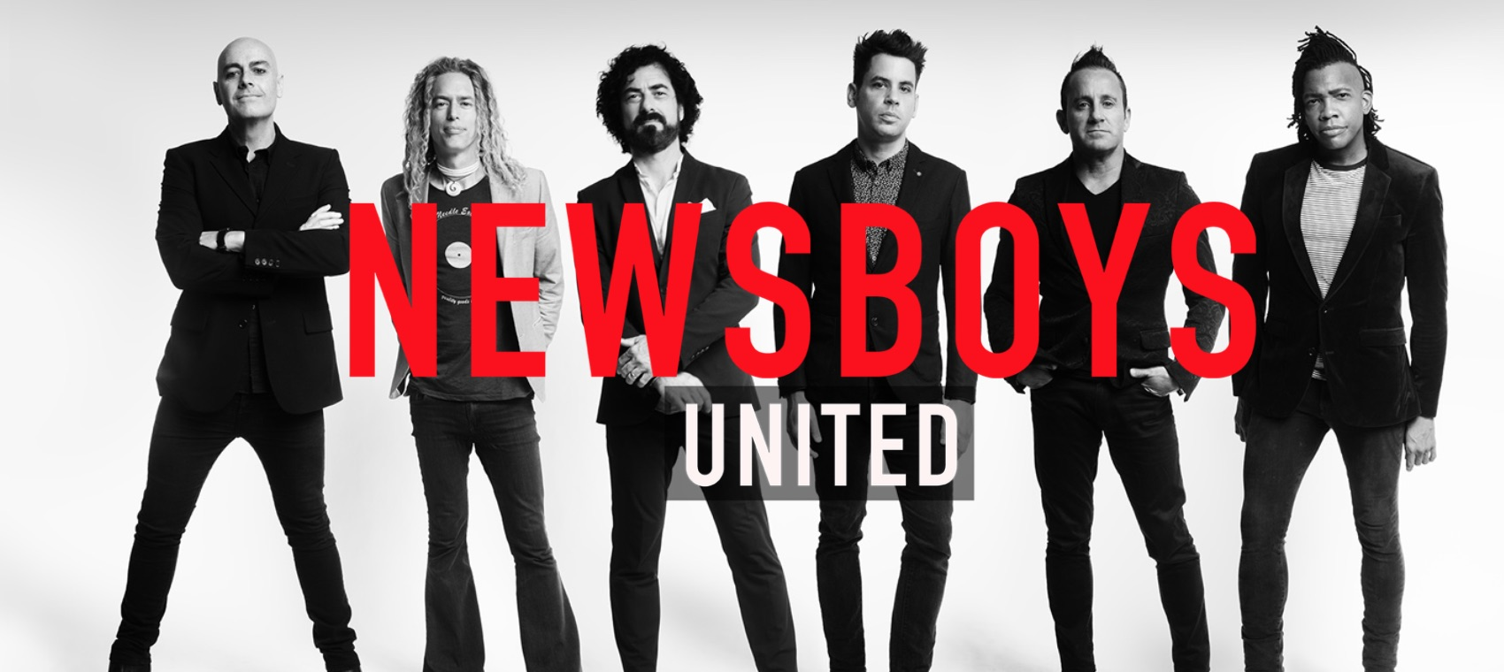 Former Sunshine Coast band Newsboys, originally led by Peter Furler, left, have announced a 40 city US tour.