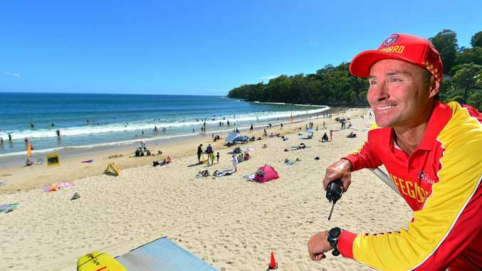 Isaac Smith has been a lifesaverat Noosa for 15 years, he loves his job which involves a mixed bag of rescues that are never the same, from national park ones to surf, to helicopter or using quad bike.