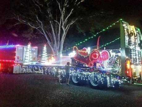Leon Manzelmann's Christmas truck