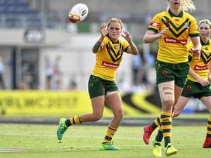 WOMEN'S LEAGUE: A Sunshine Coast women's rugby league competition is in the planning. Caitlin Moran (pictured) playing for Australia.