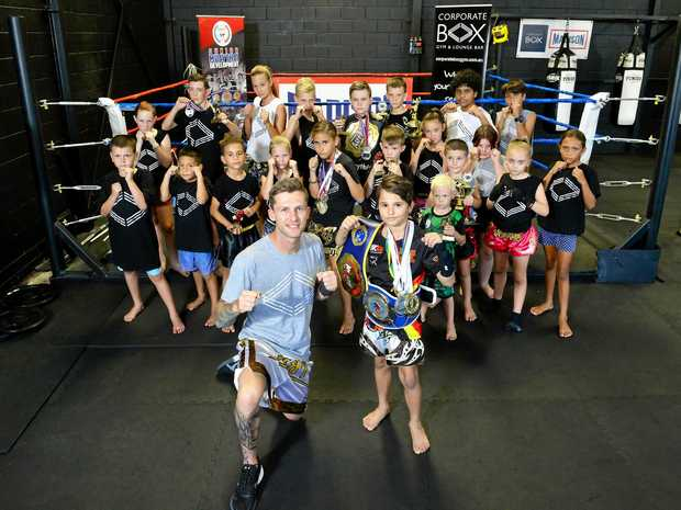 The focused young competitors at Corporate Box Ipswich have enjoyed a successful year. Manager Dean Wood is pictured at the front with one of the big improvers Tyrone Muller.