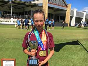 GOLD MEDALLIST: Dalby local Mary Golder with her gold medals from the Pacific School Games in Adelaide.
