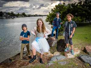LIL ROCKERS: Noosa band The Myths, whose average age is just 10, have their own original songs and play a stack of covers.