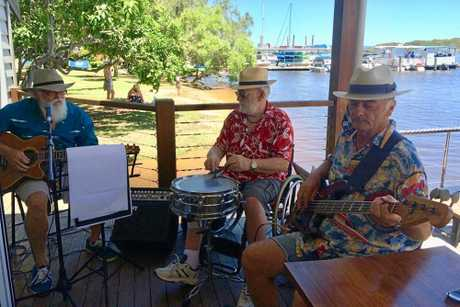 Noosa band The Sand Flys, combined age over 200.