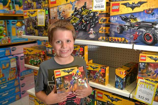 WISH LIST: Izaak Jines, 9, is hoping to score some Lego from Mr Toys Toyworld for Christmas.