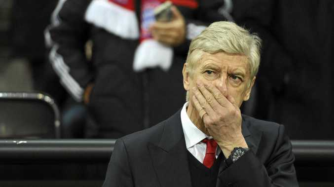 Arsene Wenger reacts during a Champions League match.