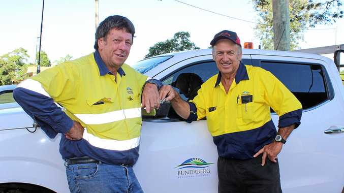 Helping the community is all in a day's work for Rob Ward and Don Kington.