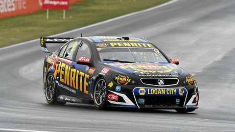 Luke Youlden pilots the Erebus Motorsport Holden around the Mount Panorama circuit.