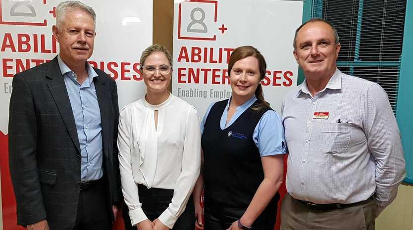 Ability Enterprises team (from left) Don Carlson, Stacey Burrell, Kolleen Koenen-weir, and Bruce Russell.