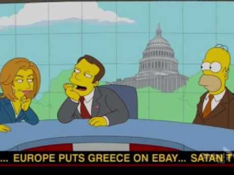 The Simpsons on Greece's financial problems.