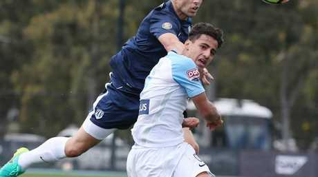 Melbourne City's Daniel Arzani in action. Picture : George Salpigtidis