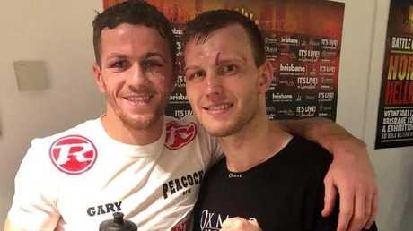 A Facebook photo of Jeff Horn and Gary Corcoran together after the fight.