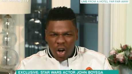 Boyega's not happy.