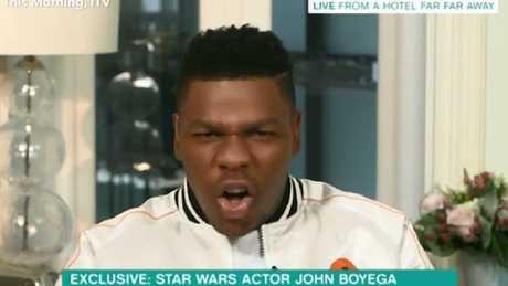 Boyega's not happy.