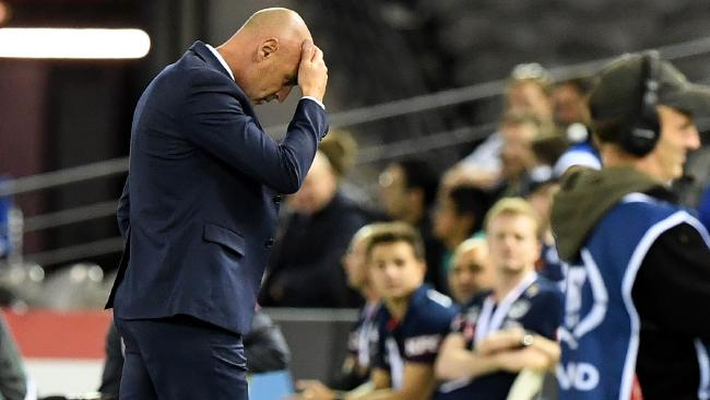Melbourne Victory coach Kevin Muscat after losing to Adelaide.