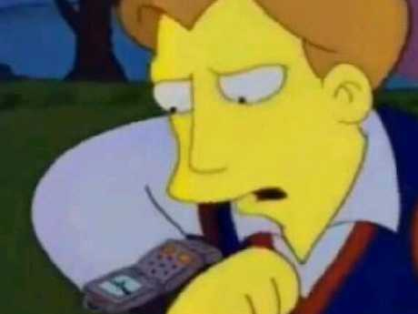 The Simpsons predicts our smartwatch future.